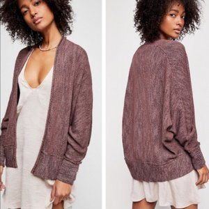 Free People Motions mauve knit dolman cardigan